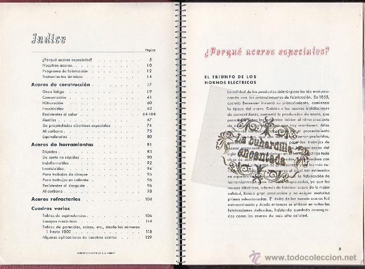 Coches y Motocicletas: MANUAL ACEROS ESPECIALES HEVA EDICIÓN AÑO 1946 - 133 PAGINAS - VER INTERIOR - Foto 2 - 40948147