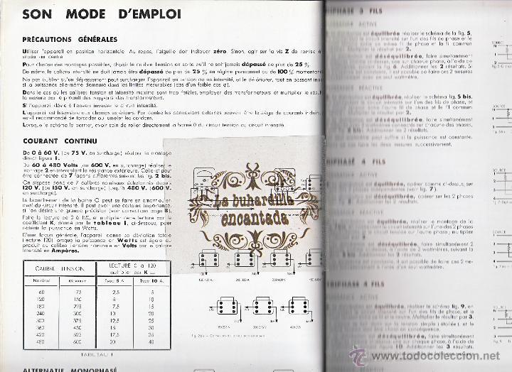 Coches y Motocicletas: CATALOGO DE APARATOS DE CONTROL CHAUVIN ARNOUX PARIS - INSTRUMENTOS MEDIDA ELECTRICOS - VER INTERIOR - Foto 4 - 40948338