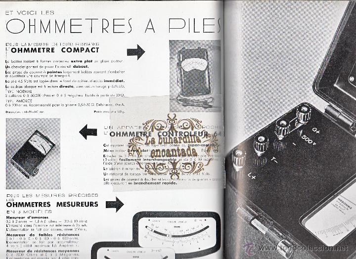 Coches y Motocicletas: CATALOGO DE APARATOS DE CONTROL CHAUVIN ARNOUX PARIS - INSTRUMENTOS MEDIDA ELECTRICOS - VER INTERIOR - Foto 5 - 40948338
