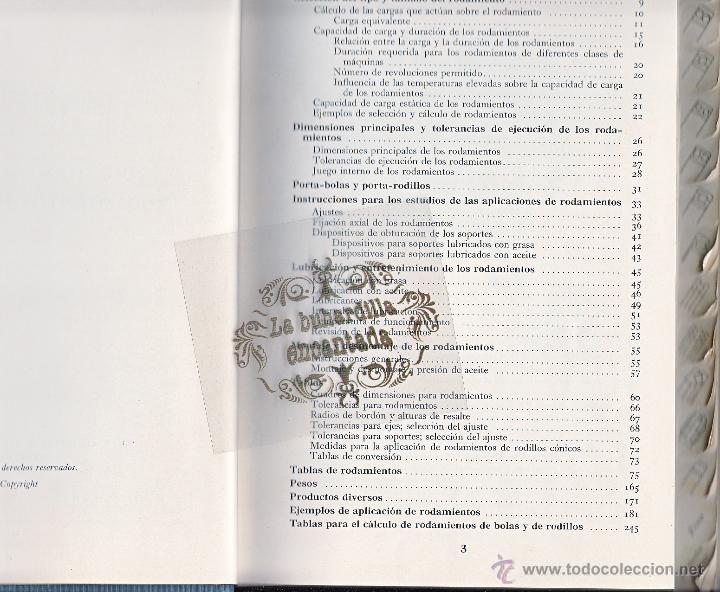 Coches y Motocicletas: LIBRO RODAMIENTOS DE BOLA SKF AÑO 1954 - MAGNIFICO LIBRO VER INTERIOR - Foto 3 - 40948444