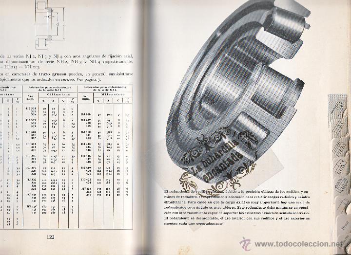 Coches y Motocicletas: LIBRO RODAMIENTOS DE BOLA SKF AÑO 1954 - MAGNIFICO LIBRO VER INTERIOR - Foto 6 - 40948444
