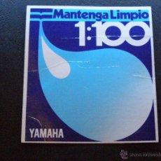 Coches y Motocicletas: ANTIGUA PEGATINA - ADHESIVO - MANTENGA LIMPIO 1:100 - YAMAHA -. Lote 41193566