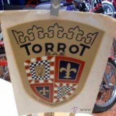 Coches y Motocicletas: TORROT PEGATINA DE EPOCA 17X14 CMS.. Lote 43765291