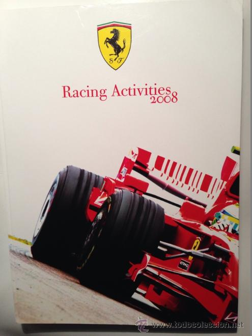 Coches y Motocicletas: FERRARI ANUARIO MEDIA ANNUAL RACING ACTIVITIES 2008 - TEXTO EN ITALIANO E INGLÉS - Foto 1 - 41454220