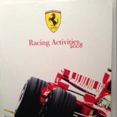 Coches y Motocicletas: FERRARI ANUARIO MEDIA ANNUAL RACING ACTIVITIES 2008 - TEXTO EN ITALIANO E INGLÉS. Lote 41454220