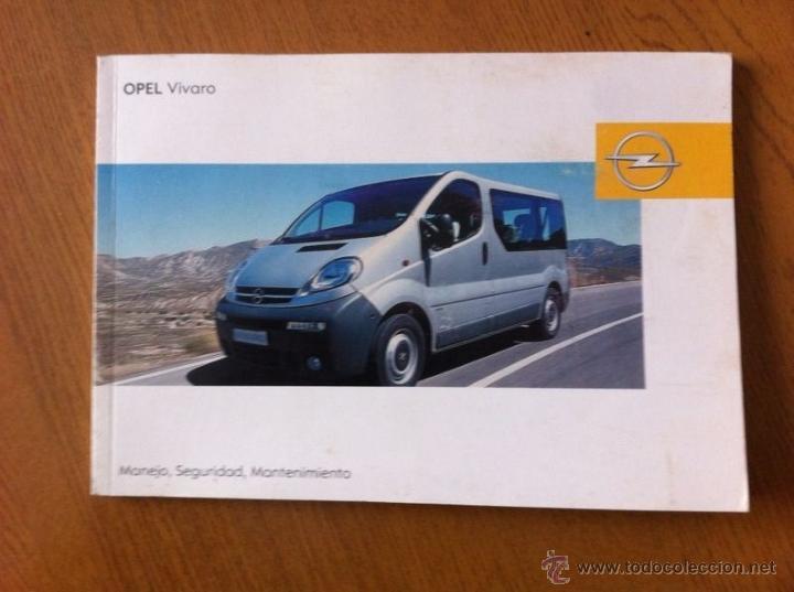 manual propietario opel vivaro comprar cat logos publicidad y rh todocoleccion net Opel Vivaro 9 Passenger Opel Vivaro Seating
