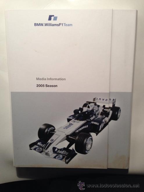 DOSSIER DE PRENSA BMW WILLIAMS F-1 TEAM TEMPORADA 2005 - TEXTO EN INGLÉS (Coches y Motocicletas Antiguas y Clásicas - Catálogos, Publicidad y Libros de mecánica)