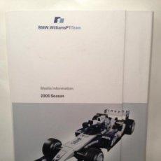 Coches y Motocicletas: DOSSIER DE PRENSA BMW WILLIAMS F-1 TEAM TEMPORADA 2005 - TEXTO EN INGLÉS. Lote 41500319