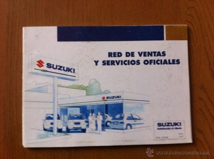 CATALOGO DE RED DE VENTAS Y SERVICIOS OFICIALES SUZUKI (AÑOS 90) (Coches y Motocicletas Antiguas y Clásicas - Catálogos, Publicidad y Libros de mecánica)