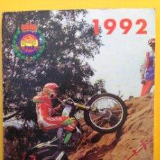 Coches y Motocicletas: ANUARIO CALENDARIO DEPORTIVO MOTOCICLISTA 1992 REAL FEDERACIÓN MOTOCICLISTA ESPAÑOLA - TEXTO ESPAÑOL. Lote 41552965
