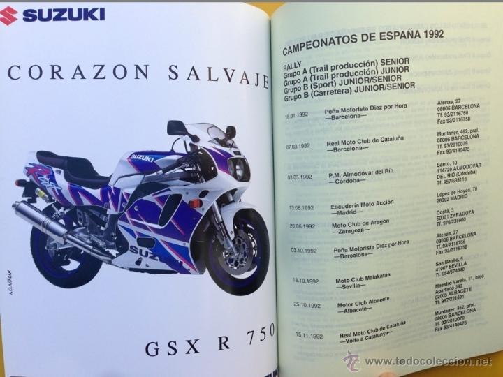 Coches y Motocicletas: ANUARIO CALENDARIO DEPORTIVO MOTOCICLISTA 1992 REAL FEDERACIÓN MOTOCICLISTA ESPAÑOLA - TEXTO ESPAÑOL - Foto 4 - 41552965