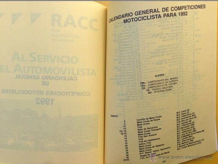 Coches y Motocicletas: ANUARIO CALENDARIO DEPORTIVO MOTOCICLISTA 1992 REAL FEDERACIÓN MOTOCICLISTA ESPAÑOLA - TEXTO ESPAÑOL - Foto 5 - 41552965