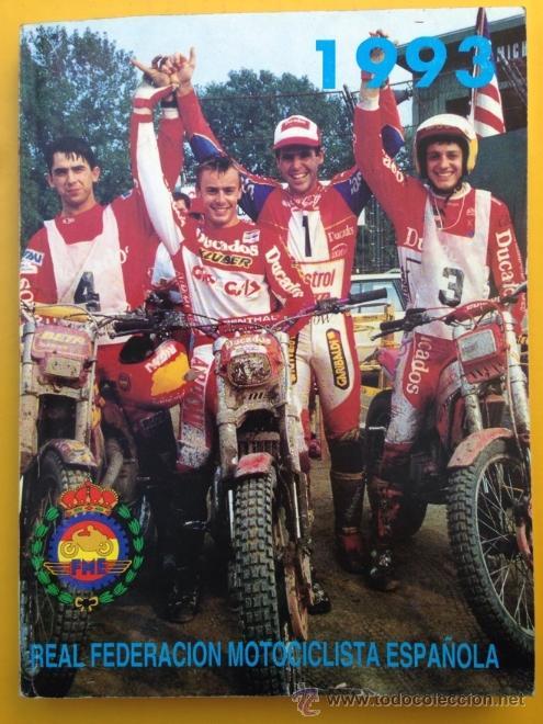 ANUARIO CALENDARIO DEPORTIVO MOTOCICLISTA 1993 REAL FEDERACIÓN MOTOCICLISTA ESPAÑOLA - TEXTO ESPAÑOL (Coches y Motocicletas Antiguas y Clásicas - Catálogos, Publicidad y Libros de mecánica)