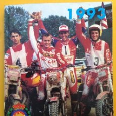 Coches y Motocicletas: ANUARIO CALENDARIO DEPORTIVO MOTOCICLISTA 1993 REAL FEDERACIÓN MOTOCICLISTA ESPAÑOLA - TEXTO ESPAÑOL. Lote 41553067