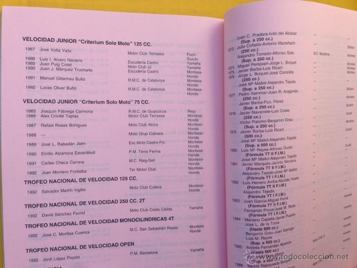 Coches y Motocicletas: ANUARIO CALENDARIO DEPORTIVO MOTOCICLISTA 1993 REAL FEDERACIÓN MOTOCICLISTA ESPAÑOLA - TEXTO ESPAÑOL - Foto 5 - 41553067