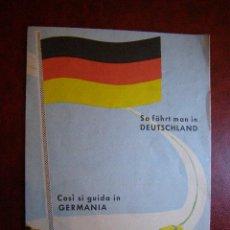 Coches y Motocicletas: COMO CONDUCIR EN ALEMANIA - AÑOS 50 - . Lote 41580036