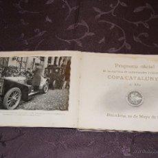 Coches y Motocicletas - COPA CATALUNYA 1909 SEGUNDO AÑO PROGRAMA OFICIAL ORIGINAL - 41610142
