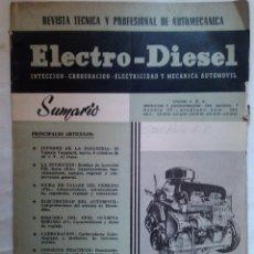 Coches y Motocicletas: AUTO MECANICA AUTOMOVIL ELECTRO DIESEL Nº 6 1960 ESQUEMA OPEL OLYMPIA REKORD TALLER P PERKINS P 6. Lote 41618818