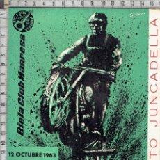 Coches y Motocicletas: REVISTA BIELA CLUB MANRESA-V MOTO CROSS CIUDAD DE MANRESA-1963.. Lote 118488022