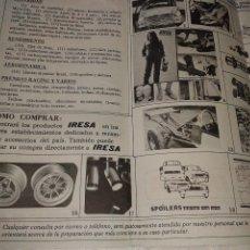 Coches y Motocicletas: ANTIGUA PUBLICIDAD PIEZAS AUTO IRESA LERIDA AÑO 1981. Lote 41989233