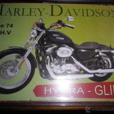 Coches y Motocicletas: PLACA METALICA HARLEY DAVIDSON. Lote 42060854