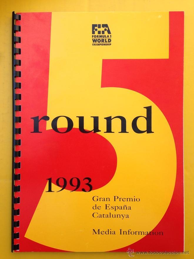 DOSSIER DE PRENSA 37 GRAN PREMIO DE ESPAÑA CATALUÑA DE FORMULA 1 - 1993 - TEXTO CAT, ES, IN, FR (Coches y Motocicletas Antiguas y Clásicas - Catálogos, Publicidad y Libros de mecánica)
