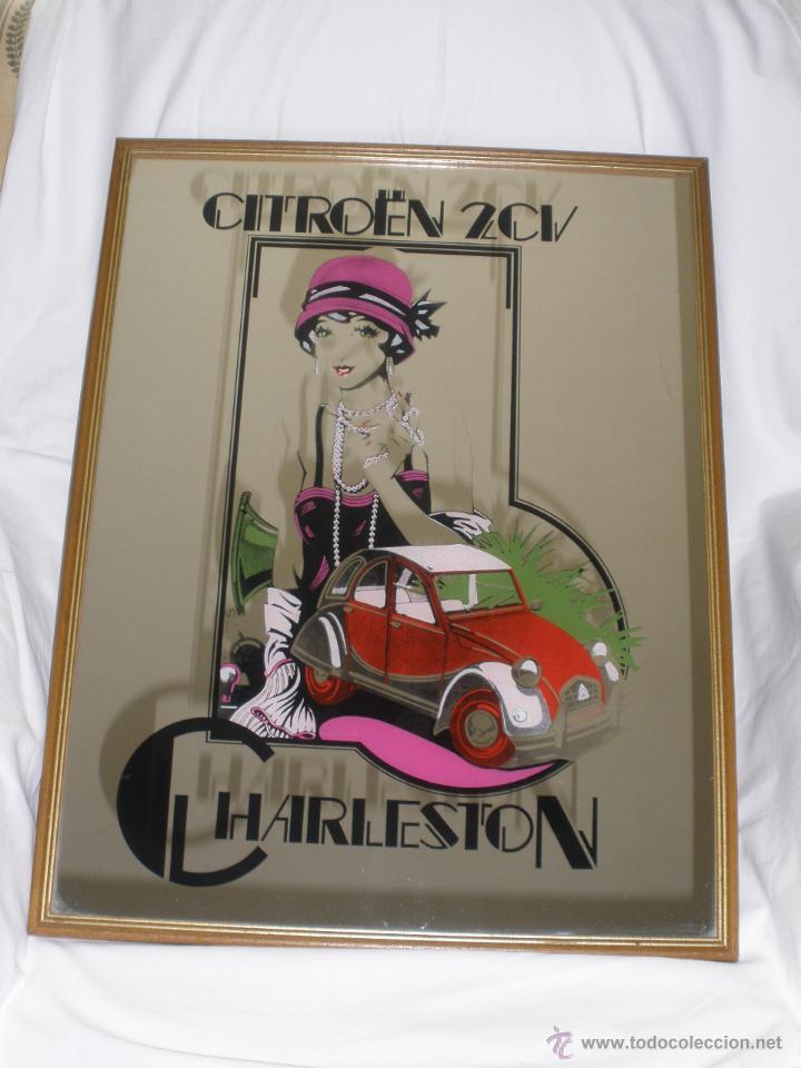 CUADRO ESPEJO COCHE CITROËN 2 CV CHARLESTON (Coches y Motocicletas Antiguas y Clásicas - Catálogos, Publicidad y Libros de mecánica)