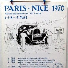Coches y Motocicletas: CARTEL POSTER ORIGINAL PARIS - NICE 1970. Lote 42217481