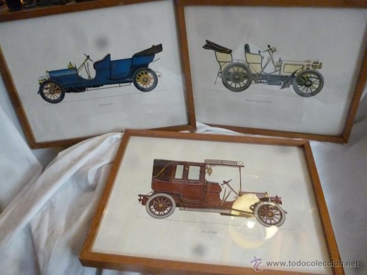 LÁMINAS COCHES ANTIGUOS (Coches y Motocicletas Antiguas y Clásicas - Catálogos, Publicidad y Libros de mecánica)