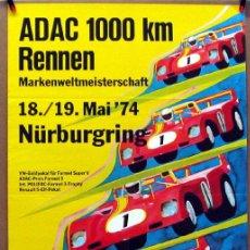 Coches y Motocicletas: CARTEL POSTER ORIGINAL ADAC 1000 KM RENNEN NURBURGRING 1974. Lote 42255608