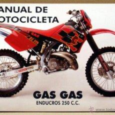 Coches y Motocicletas: GAS GAS ENDUROCROSS 250 CC 1997 MANUAL INSTRUCCIONES ORIGINAL, TEXTO ESPAÑOL . Lote 42269472