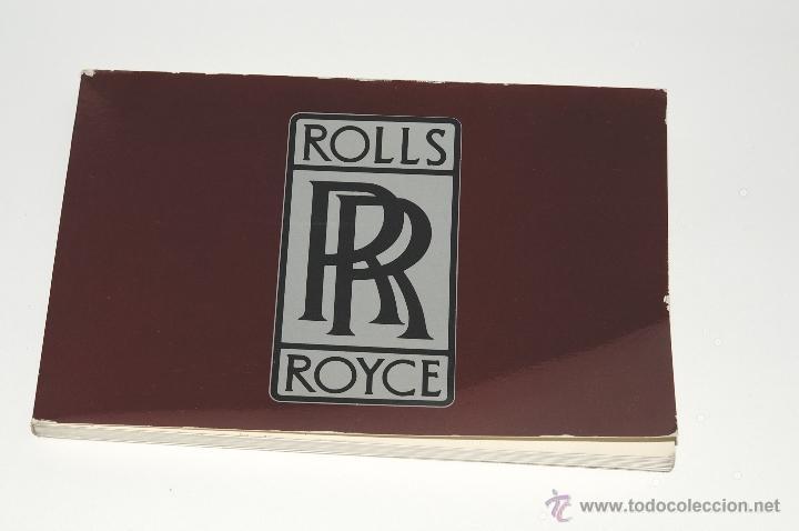 CATALOGO ROLLS ROYCE IMPRESO EN FRANCES AÑO 1981 (Coches y Motocicletas Antiguas y Clásicas - Catálogos, Publicidad y Libros de mecánica)