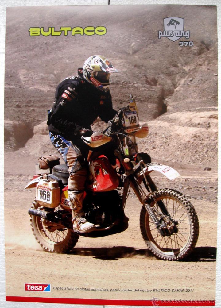 CARTEL POSTER BULTACO PURSANG 370 PARIS DAKAR 2011 (Coches y Motocicletas Antiguas y Clásicas - Catálogos, Publicidad y Libros de mecánica)
