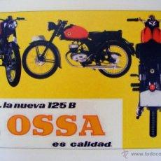 Coches y Motocicletas: LAMINA PUBLICITARIA DE MOTO OSSA 125 REPRO. MIDE 42 X 30 CM.. Lote 42557506