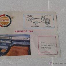 Coches y Motocicletas: ANTIGUA PUBLICIDAD FRIGETTE AIRE ACONDICIONADO PEUGEOT 504. Lote 42800589