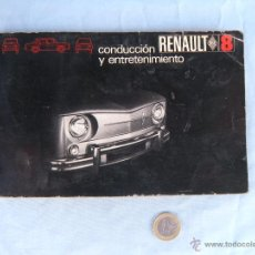 Coches y Motocicletas: MANUAL DE CONDUCCIÓN Y ENTRETENIMIENTO RENAULT 8. AÑO 1969. Lote 42807349