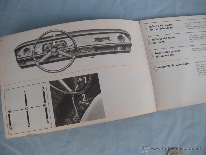 Coches y Motocicletas: MANUAL DE CONDUCCIÓN Y ENTRETENIMIENTO RENAULT 8. AÑO 1969 - Foto 3 - 42807349