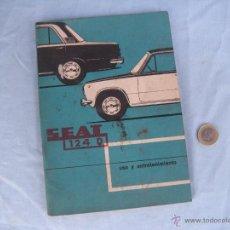 Coches y Motocicletas: MANUAL DE USO Y ENTRETENIMIENTO SEAT 124 D. Lote 42821297