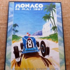 Coches y Motocicletas: POSTER MONACO , 1987, BUGATTI TYPE 35. Lote 42826355