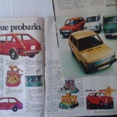 Coches y Motocicletas: ANTIGUA PUBLICIDAD DE PRENSA SEAT 133 AÑOS 70. Lote 40029290