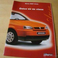 Coches y Motocicletas: BROCHURE CATALOGO FOLLETO SEAT AROSA. Lote 42924898