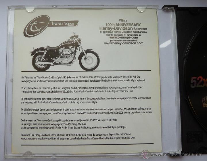 Coches y Motocicletas: CD Virgen Think Xtra 100 Aniversario Harley Davidson del 2002 - Foto 2 - 43023526