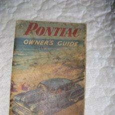 Coches y Motocicletas: MANUAL PONTIAC CHEFTAIN 1953. Lote 43295374