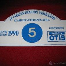 Coches y Motocicletas: PLACA CONMEMORATIVA EN CHAPA. Lote 43324516