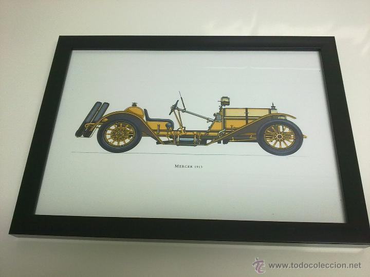 CUADRO COCHE ANTIGUO MERCER DE 1913 (Coches y Motocicletas Antiguas y Clásicas - Catálogos, Publicidad y Libros de mecánica)