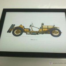 Coches y Motocicletas: CUADRO COCHE ANTIGUO MERCER DE 1913. Lote 43333776