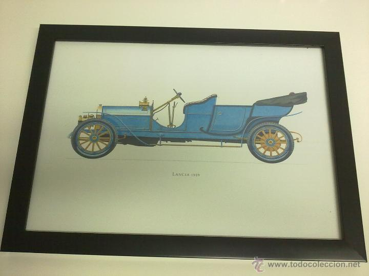 CUADRO COCHE ANTIGUO LANCIA 1909 (Coches y Motocicletas Antiguas y Clásicas - Catálogos, Publicidad y Libros de mecánica)