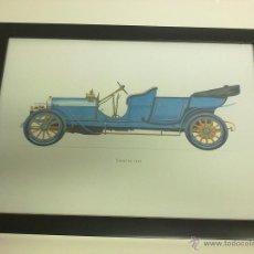 Coches y Motocicletas: CUADRO COCHE ANTIGUO LANCIA 1909. Lote 43333845