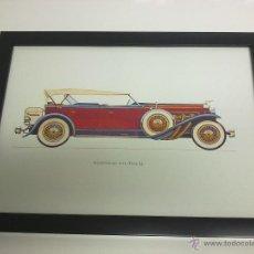 Coches y Motocicletas: CUADRO COCHE ANTIGUO DUSENBERG TYPE SJ 1929. Lote 43333879