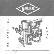 Coches y Motocicletas: MANUAL DE TALLER CARBURADOR SOLEX 32 PBIC. Lote 195134611